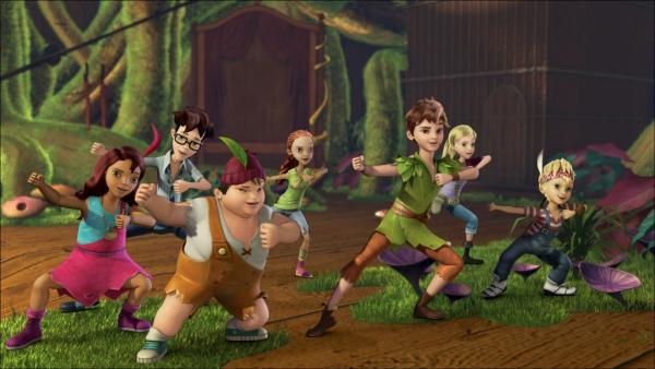 Peter Pan und die Verlorenen Kinder nehmen an einem Wettkampf teil. | Rechte: ZDF/method Film/DQ Entertainment