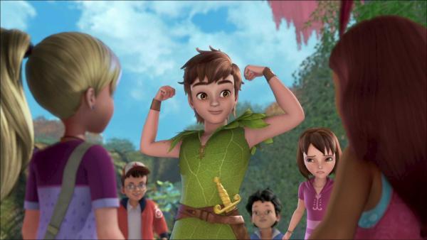 Peter Pan demonstriert seinen Freunden seine Siegesgewissheit. | Rechte: ZDF/method Film/DQ Entertainment