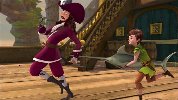 Peter Pan ärgert Captain Hook. | Rechte: ZDF/method Film/DQ Entertainment