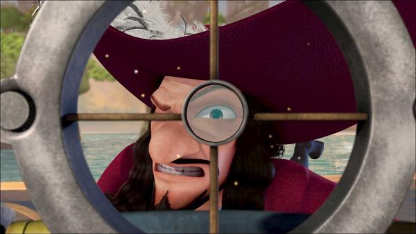Captain Hook hat im Visier wer und was sich seiner Jolly Roger nähert. | Rechte: ZDF/method Film/DQ Entertainment