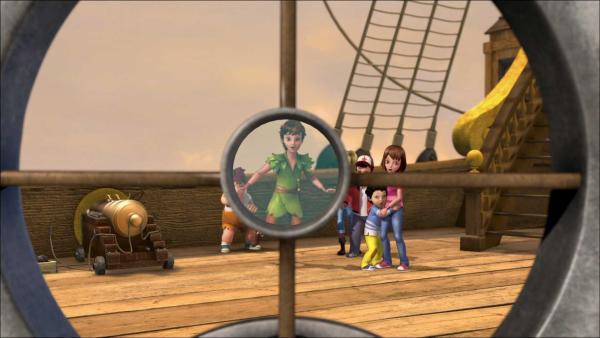 Peter Pan, John, Michael und Wendy haben sich auf die Jolly Roger geschlichen. | Rechte: ZDF/method Film/DQ Entertainment