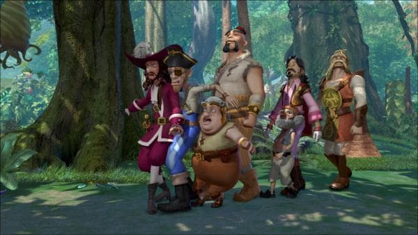 Captain Hook und seine Piraten sind ausnahmsweise mal nicht zu Wasser, sondern zu Fuß unterwegs. | Rechte: ZDF/method Film/DQ Entertainment