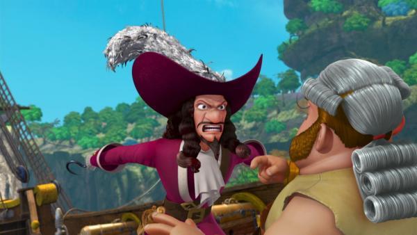 Captain Hook will seinen bisherigen Adjutanten Smee absetzen und einen neuen ernennen.   Rechte: ZDF/method Film/DQ Entertainment
