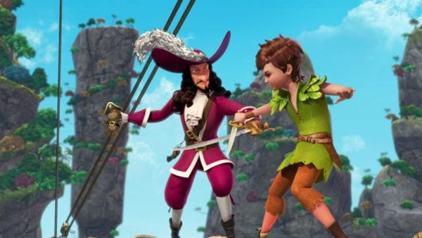 Peter Pan und Captain Hook haben Streit. | Rechte: ZDF/method Film/DQ Entertainment
