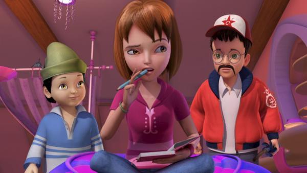 Wendy und ihre Brüder Michael und John warten zu Hause auf Peter Pan und Tinker Bell. | Rechte: ZDF/method Film/DQ Entertainment