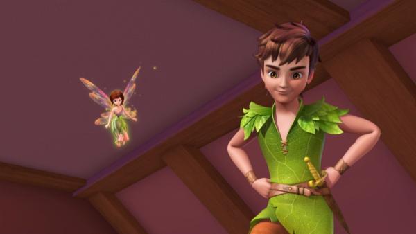 Peter Pan und Tinker Bell kommen, um die Darling-Kinder nach Nimmerland abzuholen. | Rechte: ZDF/method Film/DQ Entertainment