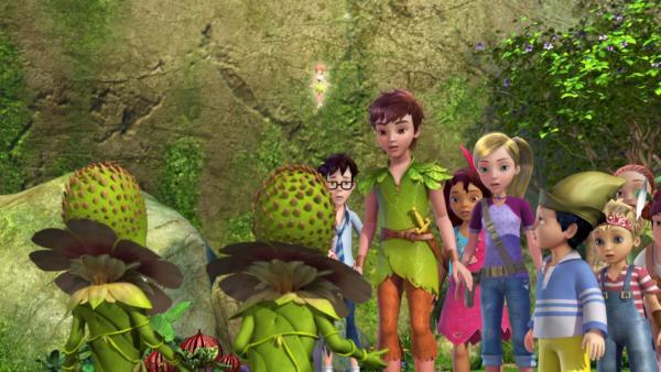 Peter Pan und die verlorenen Kinder von Nimmerland suchen im Geheimen Garten nach Wendy. | Rechte: ZDF/method Film/DQ Entertainment
