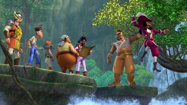 Captain Hook und seine Piraten sind auf Schatzsuche in Nimmerland unterwegs. | Rechte: ZDF/method Film/DQ Entertainment