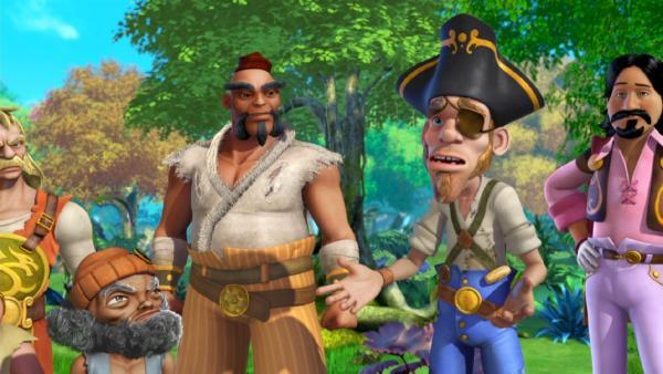 Die Piraten suchen einen Geist. | Rechte: ZDF/method Film/DQ Entertainment