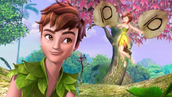 Peter Pan und Tinker Bell wundern sich über seltsame Vorgänge in Nimmerland. | Rechte: ZDF/method Film/DQ Entertainment