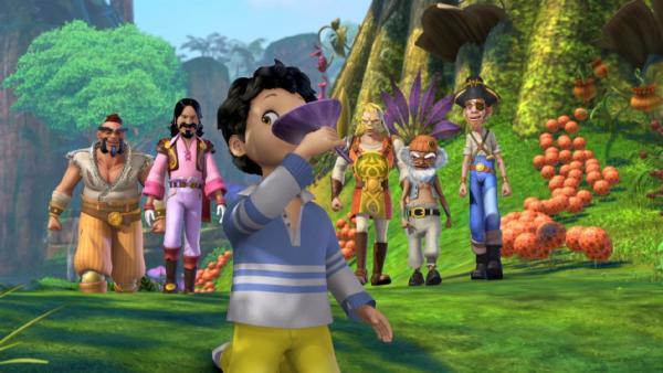 Michael genießt die Bewunderung der Piraten. | Rechte: ZDF/method Film/DQ Entertainment