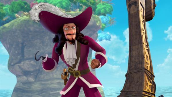 Captain Hook hat mal wieder einen teuflischen Plan, wie er Peter Pan und die Verlorenen Kinder loswerden kann. | Rechte: ZDF/method Film/DQ Entertainment
