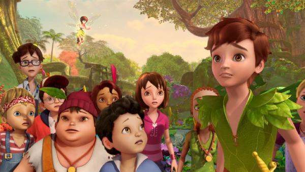 Peter Pan und die Verlorenen Kinder haben Angst. | Rechte: ZDF/method Film/DQ Entertainment