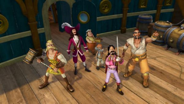 Die Piratenbesatzung der Jolly Roger ist zum Angriff bereit.   Rechte: ZDF/method Film/DQ Entertainment