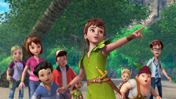 Peter Pan erklärt den Verlorenen Kindern seinen Plan   Rechte: ZDF/method Film/DQ Entertainment