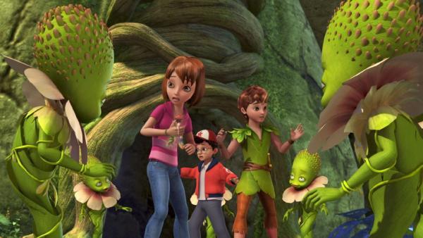 Peter Pan, Wendy und John sind im Reich der Sylphies.   Rechte: ZDF/method Film/DQ Entertainment