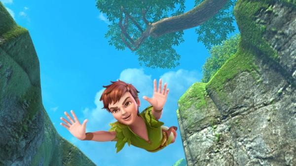Peter Pan ist im Anflug auf Nimmerland. | Rechte: ZDF/method Film/DQ Entertainment