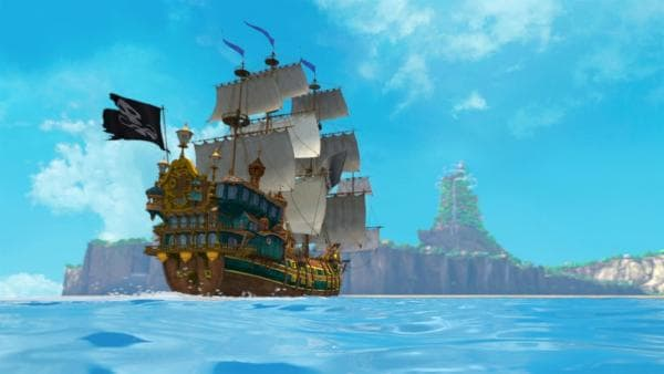 Die Jolly Roger, Captain Hooks ganzer Stolz, auf großer Fahrt. | Rechte: ZDF/method Film/DQ Entertainment