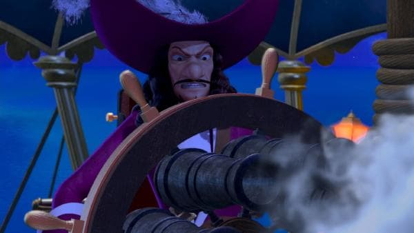 Captain Hook steuert seine Jolly Roger durch gefährliche Strömungen. | Rechte: ZDF/method Film/DQ Entertainment