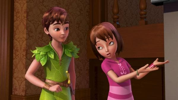 Wendy erklärt Peter Pan, was ein Film ist. | Rechte: ZDF/method Film/DQ Entertainment