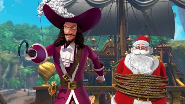 Captain Hook ist siegesgewiss: seine Piraten haben den Weihnachtsmann gefangen genommen. Jetzt wird Weihnachten wohl ausfallen. | Rechte: ZDF/method Film/DQ Entertainment