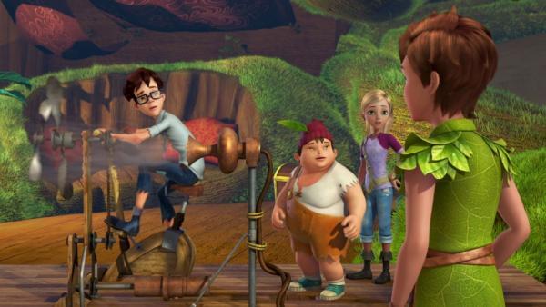 Peter Pan erzählt den Verlorenen Kindern von dem schrecklichen Pulver, das die Piraten verstreut haben.   Rechte: ZDF/method Film/DQ Entertainment