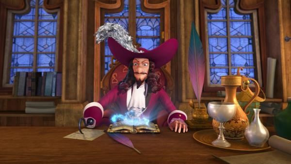 Captain Hook hat das Große Buch von Nimmerland in seinen Besitz gebracht. Er erweckt daraus Monster zum Leben. | Rechte: ZDF/2014 DQ Entertainment
