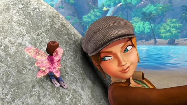 Wendy hat Feenseewasser getrunken und sich dadurch in eine Elfe verwandelt.  Sie bittet Sienna um Hilfe. | Rechte: ZDF/DQ Entertainment