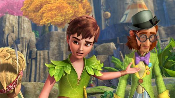 Peter Pan versucht Mister Ploof davon abzuhalten, eine Dummheit zu begehen. | Rechte: ZDF/DQ Entertainment