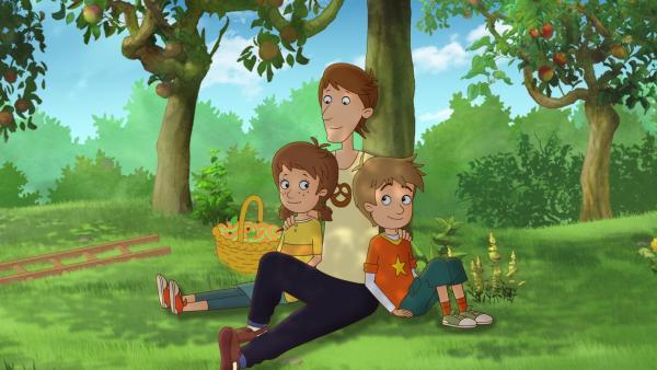 Lea und Luis kennen das Geheimnis dieses Gartens – ihr Papa allerdings nicht. | Rechte: ZDF/Akkord Film/Bastei Lübbe AG