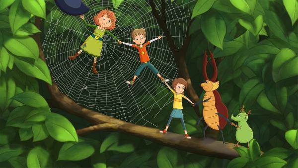 Ein gemütliches Picknick im Grünen haben sich Lea und Luis anders vorgestellt.   Rechte: ZDF/Akkord Film/Bastei Lübbe AG