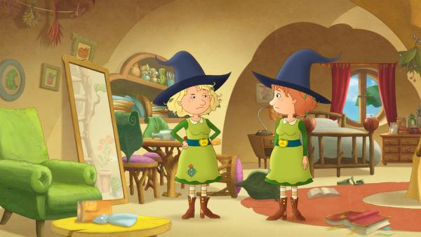 Welche der beiden Petronellas ist denn nun die echte Petronella? | Rechte: ZDF/Akkord Film/Bastei Lübbe AG
