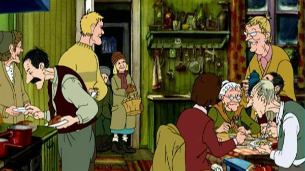 Petterssons Nachbarn sind zum Weihnachtsbesuch gekommen. | Rechte: ZDF/TV-Loonland