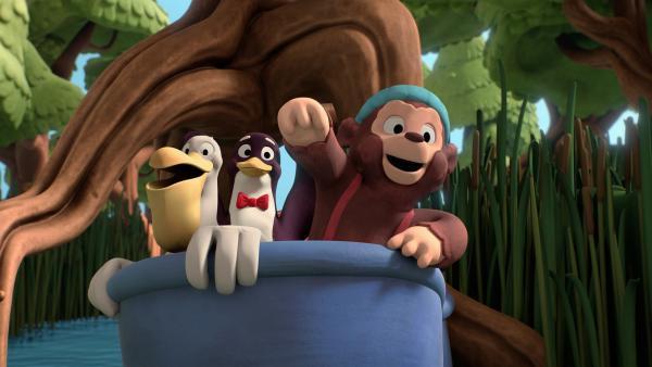 Die Freunde Pelle, Pingo und Petzi erleben zusammen viele Abenteuer. | Rechte: ZDF/Studio SOI