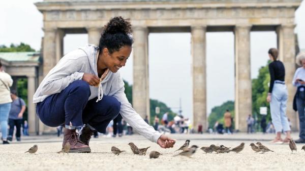 Rettet den Spatz / In keiner deutschen Stadt gibt es noch so viele Spatzen wie in Berlin, deswegen hat Pia sich hier auf die Suche nach den frechen Vögeln gemacht.  | Bild: BR/Text und Bild Medienproduktion GmbH & Co.KG/Christiane Streckfuß | Rechte: BR/Text und Bild Medienproduktion GmbH & Co.KG/Christiane Streckfuß