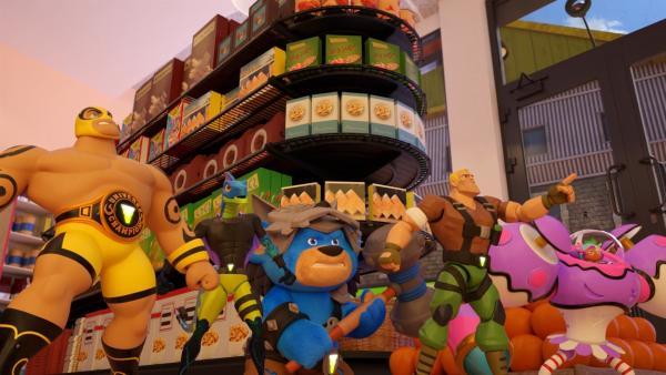 Die Power Players wollen verhindern, dass Madcap den Supermarkt ausraubt. | Rechte: WDR/WDRmg/Zagtoon/Method
