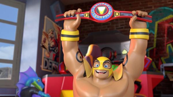 Masko freut sich auf den Ringkampf mit seinen Freunden. | Rechte: WDR/WDRmg/Zagtoon/Method