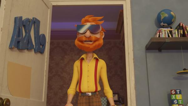 Mit der merkwürdigen Brille wirkt Onkel André wie ferngesteuert. | Rechte: WDR/WDRmg/Zagtoon/Method