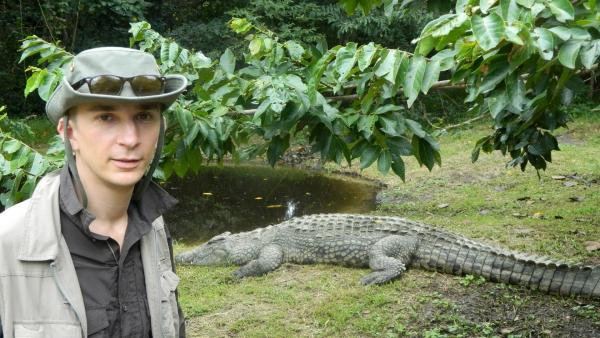 Eric Mayer im iSimangaliso Wetland Park in Südafrika   Rechte: ZDF/Simone Grabs