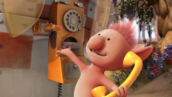 Oopsy ist begeistert von ihrem neuen Telefon und verspricht den anderen, dass sie zu jeder Zeit bei ihr anrufen können. | Rechte: KiKA/Snapper Productions/Q Pootle 5 LTD