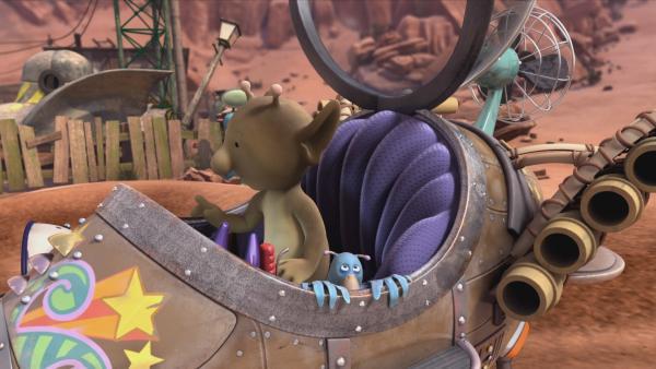 Stella und Krah machen ihr Raumschiff startklar. | Rechte: KiKA/Snapper Productions/Q Pootle 5 LTD