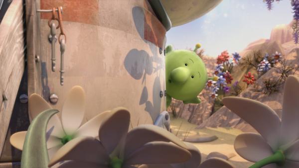 Pootle macht sich auf die Suche nach dem geheimnisvollen Fremden. | Rechte: KiKA/Snapper Productions/Q Pootle 5 LTD