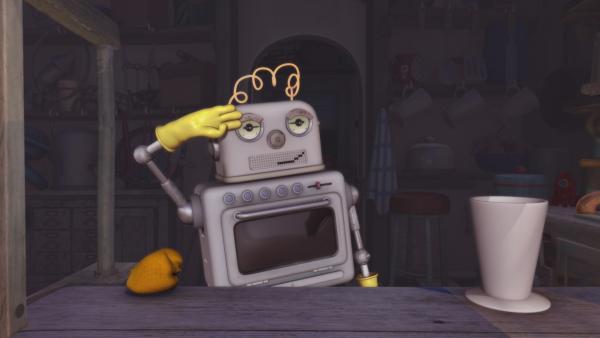 Groobie beschließt einen Ausflug zu machen. Bud-D soll in der Zwischenzeit die Arbeit in seinem Laden übernehmen. | Rechte: KiKA/Snapper Productions/Q Pootle 5 LTD