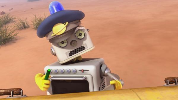 Flüssigkeit ist in Bud-Ds Schaltkreise gespritzt und der Roboter hat plötzlich eine ganz andere Persönlichkeit. | Rechte: KiKA/Snapper Productions/Q Pootle 5 LTD