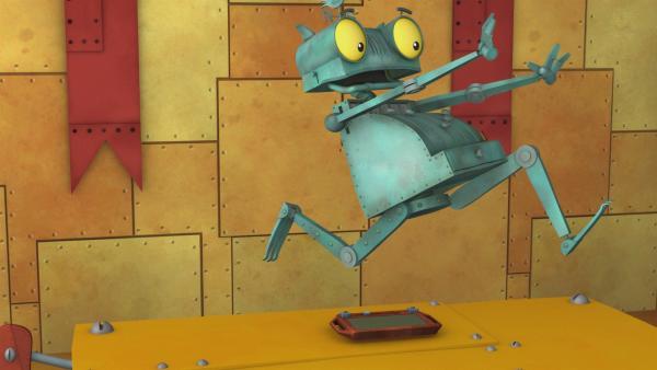 Röste rennt! Schnell weg vor der Magnetitis. | Rechte: ZDF/Caligari