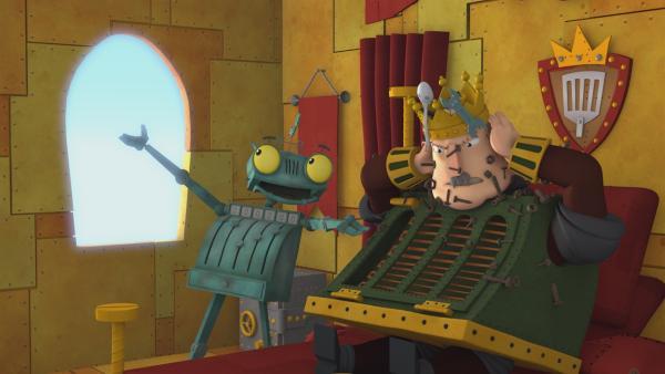 Wie kann Rösti dem König nur bei seiner Magnetitis helfen? | Rechte: ZDF/Caligari