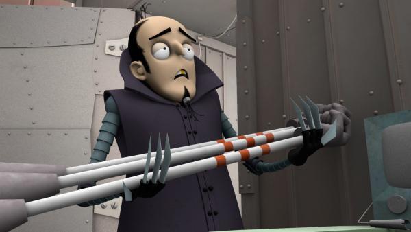 Enzo liefert die fertigen Lanzen aus. | Rechte: ZDF/Caligari
