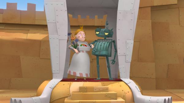 Ritter Rost hat einen Albtraum:  Er soll die schrille Prinzessin Magnesia heiraten. | Rechte: ZDF/Caligari