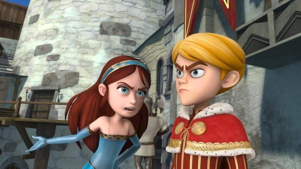 Lady Marian und Prinz John streiten darüber, ob der Wunderheiler sich an den Bauern im Dorf bereichert. | Rechte: ZDF/Method Animation/DQ Entertainment/Fabrique d'images/ZDF Enterprises/De Agostini