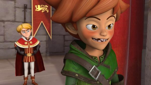 Prinz John hat einen Plan. Mit Hilfe eines von ihm eingesetzten Doppelgängers glaubt das Volk nun, dass Robin Hood sie bestiehlt. | Rechte: ZDF/Method Animation/DQ Entertainment/Fabrique d'images/ZDF Enterprises/De Agostini